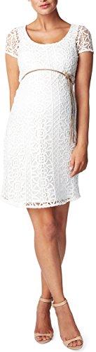 Noppies Damen Etui Umstandskleid Dress woven ss Elise, Knielang, Einfarbig, Gr. 36 (Herstellergröße: S), Elfenbein (Off White C010)