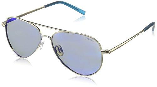 Polaroid Unisex-Kinder PLD 8015/N JY J5G Sonnenbrille, (Gold/Greyblmirror Pz), 52