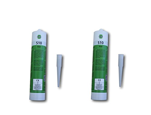 reca-standard-pack-of-2-painters-acrylic-silicone-white-310ml-cartridge-fensterverglasung-seal-expan