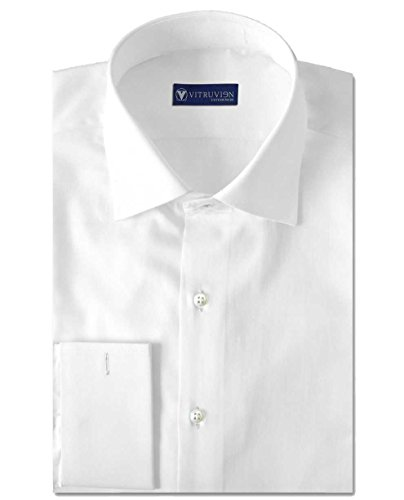 Vitruvien Men's Plain Formal shirt in Egyptian Giza Cotton
