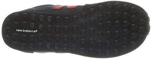 New Balance - Sneaker, Unisex - bambino Multicolore (Black/red)