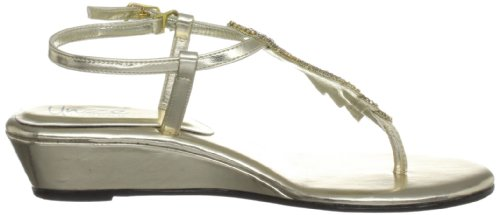 Unze Evening Sandals, Damen Sandalen Gold (L18307W)
