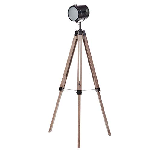 Meet's shop Landung Vintage Industriefotografie/Film Studio Style Einstellbare Stativ Stehleuchte Led Scheinwerfer Amerikanische Mode Stehleuchte Tischlampe (Color : Black) - Akzent-scheinwerfer-set