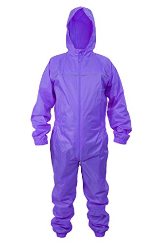 DRY KIDS Adults Waterproof All in One Rainsuit Ideal Wet Weather Gear