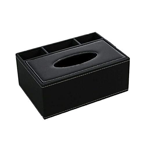 Bath Tissue Holder (SUPVOX PU Tissue Box Halter mit Fernbedienung Caddy Organizer Container für Home Office Auto (Schwarz))