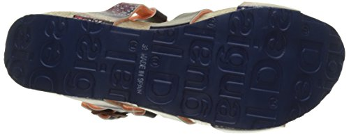 Desigual Bio9 Denim Patch, Sandales Bride Arriere Femme Bleu (Blue 5106)