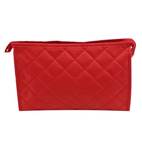 MOONQING Tragbare Schminktasche Reisetasche Cosmetic Organizer Pouch, rot - Die Schmutzabweisenden Tücher