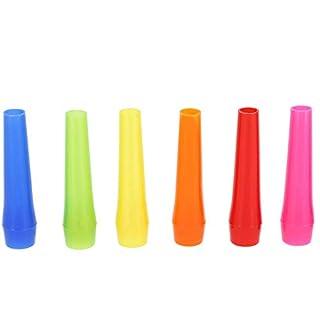 Smokezilla Shisha Hygiene Mundstücke 100 Stück | Einweg Hygienemundstücke für Wasserpfeife (Bunt)