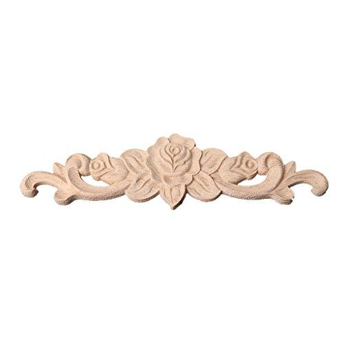 Cold Toy Wood Floral Geschnitzte Ecke Onlay Applique Frame Decor Möbel Handwerk unlackiert - Handwerk Holz-applique