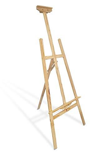 Amazinggirl cavalletto per dipingere pittura 180 cm - grande cavalletti legno per dipingere bambini artisti massello di pino portatile