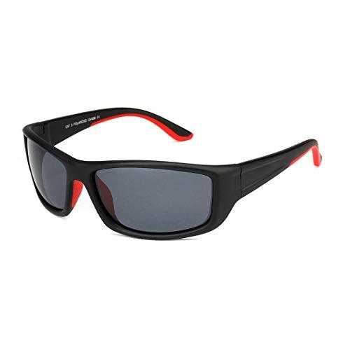 Yiph-Sunglass Sonnenbrillen Mode Langlebige Sport-Sonnenbrille Schwarz und Rot TR90 Polarisierte TAC-Linse UV400-Schutz Fahren Radfahren Laufen Angeln Golf-Sonnenbrille