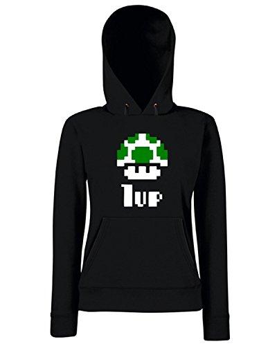 T-Shirtshock - Sweats a capuche Femme TR0001 1 Up Retro T-Shirt Noir