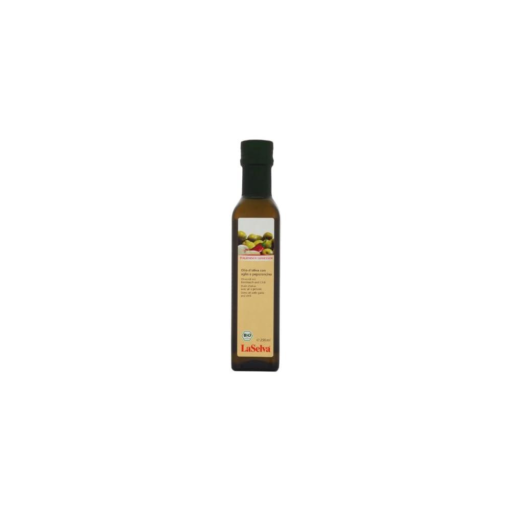 Laselva Bio Olio D Oliva Con Aglio E Peperoncino Olivenl Mit Knoblauch Und Chili 250 Ml