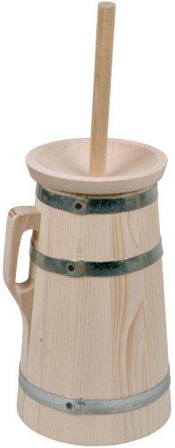 Hofmeister Holzwaren Butterfass, 3 Liter, aus Fichtenholz