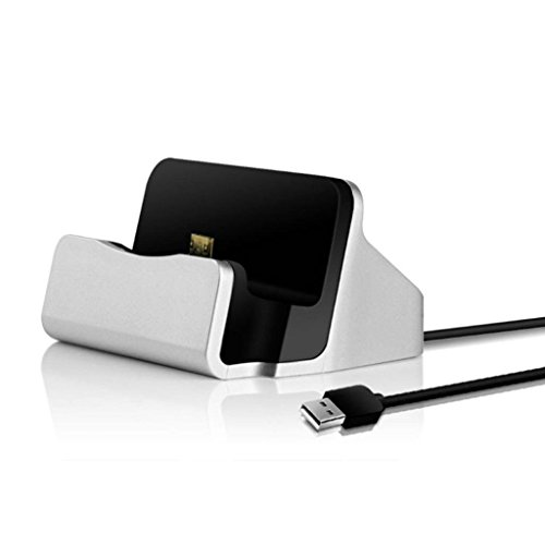 ELECTROPRIME 2X Micro USB Desktop Charging Dock Stand Charger for Various Mobile Phones