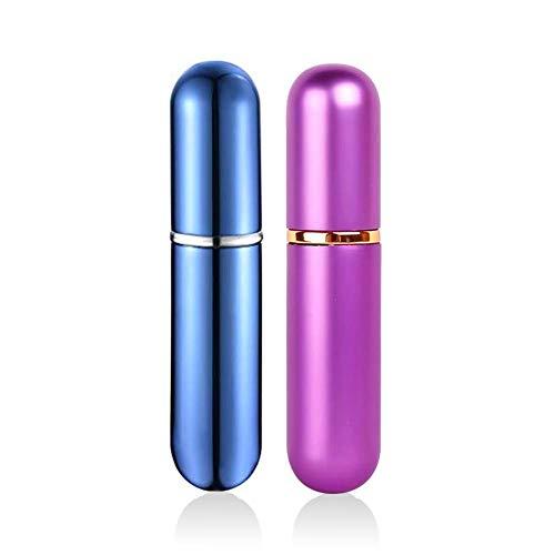 QJiang 5 ml Azul Púrpura Aluminio vidrio Aceite esencial