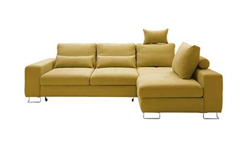 Moderne Ecksofa Asti, Eckcouch mit Bettkasten und Schlaffunktion, Einstellbare Rückenlehnekissne, Silikonfüllung! Design Schlafsofa Polsterecke, Elegante L-Form Couch Couchgarnitur (Ecksofa Rechts, Milton 11)