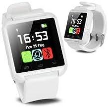 Bingo U8 White Watch Bluetooth Smart Wrist Watch Phone White Mate for IOS Android Samsung IPhone HTC-White