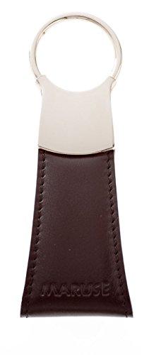 Maruse italienischem Leder Schlüsselanhänger, 100% Made in Italy, schwarz (Kalbsleder-schlüsselanhänger)