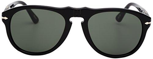 Persol Unisex PO0649 Sonnenbrille, Schwarz (Black/Grey 95/31), Small (Herstellergröße: 52)