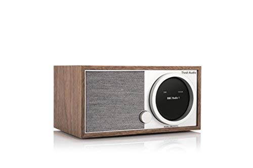 Tivoli Audio Art Line Model One Digital - FM/Dab/Dab+ Radio avec connectivité Wi-FI & Bluetooth - Noyer/Gris