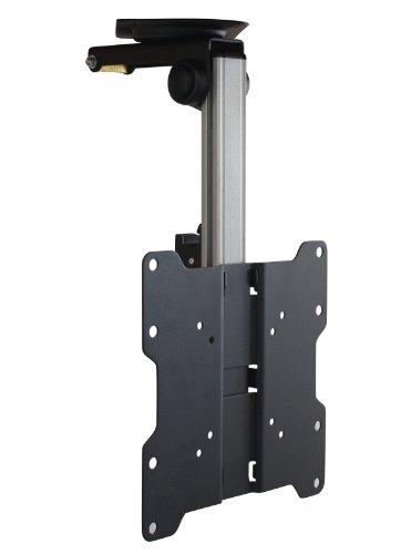 Dynamic-Wave TV Deckenhalterung Unterbauhalterung neigbar schwenkbar höhenverstellbar für Dachschrägen, Wohnmobile, Wohnwagen, Küchen verschiedene Modelle und Farben, Farbe:schwarz;UB-Variationen:UB-200