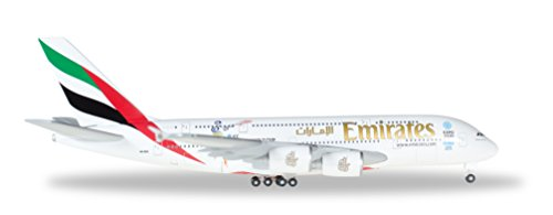 Herpa 527897-001 -   Emirates Airbus A380 Cricket World - 200 1 A380