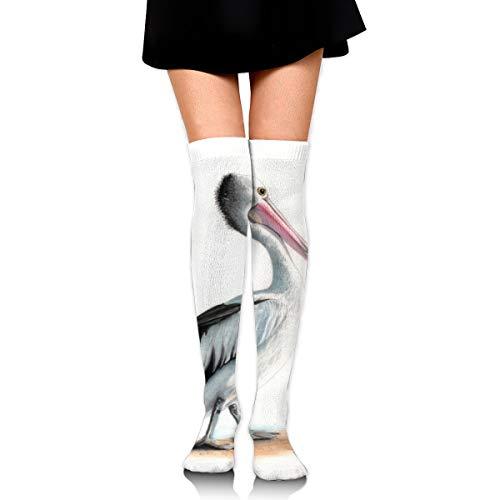 Bidetu Mr Percival Aquarell über Knie lange Socke Oberschenkel hohe Socken Mädchen Socken niedlichen Kostüm Strümpfe 25,5 Zoll (Am Besten Dackel Kostüm)