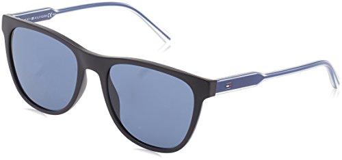 Tommy hilfiger th 1440/s 9a d4p 54, occhiali da sole uomo, nero (bk blueeviol/bluette)