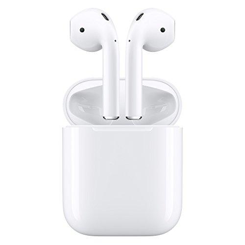 Apple AirPods   Auriculares inalámbricos de botón (Bluetooth  Lightning)  color blanco