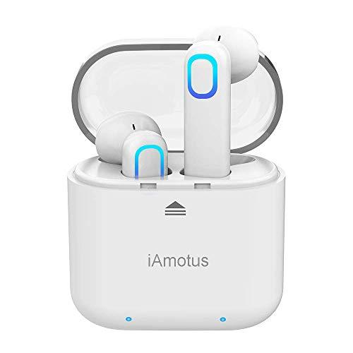 QueenDer Cuffie Bluetooth 5.0 Auricolare Senza Fili Earphones con Microfono, Resistente all'Acqua Sport Earbuds Riduzione del Rumore Stereo HD per...