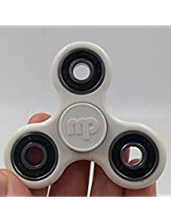 MUPATER fidget spinners, EDC spinner fidget toys, tri-spinner fidget toy relieves your ADHD, anxiety, and boredom, Non-3D Printed (WHITE:black)