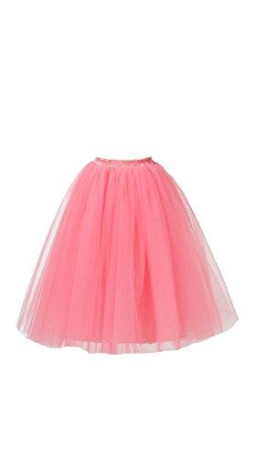 Honeystore Damen's Lang Ballet Petticoat Abschlussball Party Zubehör Tutu Unterkleid Rock Wassermelone XL (Schnelle Und Einfache Last Minute Kostüme)