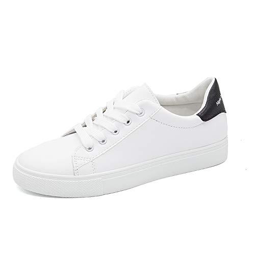 Uhrtimee Neue Einfache Low-Cut Schuhe Frauen Schuhe Student Schuhe Flache Schuhe Casual Weiße Schuhe Weibliche Koreanische Platte Schuhe Flut, 40, Schwarz -