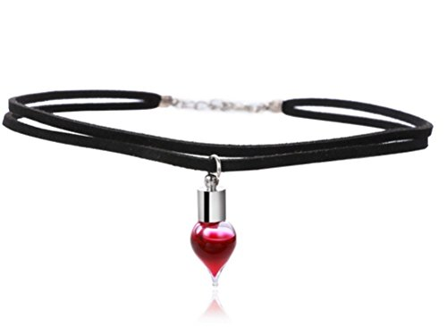 elufly-black-choker-vampire-blood-vial-necklace-with-glass-wish-drop-pendant-necklace-for-women-hall