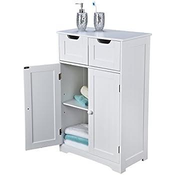 Bathroom Cabinet Storage U2013 Double Doors, Scandinavian Inspired, White Wooden  And Freestanding, Suit