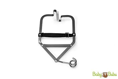 BabyBubu - Türklammer für Babyhängematte | bis 15 kg belastbar | für Türrahmen mit max. Stärke von 30 cm | für gängige Federwiegen und Babyschaukeln mit Einpunktaufhängung nutzbar