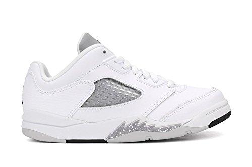 Jordan Air 5 Retro Low GP Little Kid's Shoes White/Black/Wolf Grey 819173-122 (12 M US)