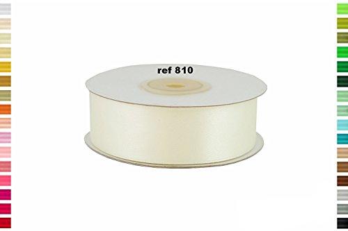 ruban satin 25 mm de large bobine de 25 metres nouvelles couleurs (Ivoire 810)