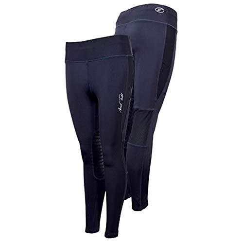 Mark Todd - Leggings da Equitazione Invernali - Donna (XL) (Blu Navy)