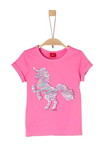 s.Oliver Junior Mädchen 54.899.32.0466 T-Shirt, Violett (Purple/Pink 4420), 104 (Herstellergröße: 104/110/REG)