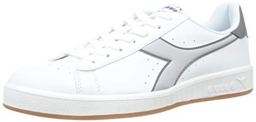Diadora Game P, Sneaker Unisex Adulto, (Bianco/Grigio Alaska C6128), 43 EU