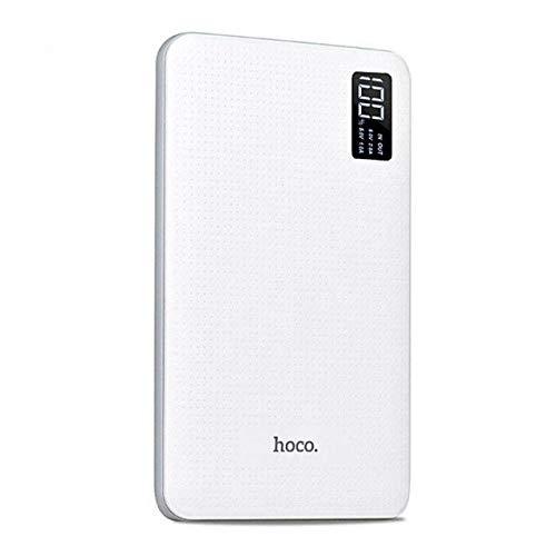 ETC KART HOCO 30000 mAh Power Bank 3 USB Tragbare Externe Batterie Pack Mobile Schnelle Ladegerät LCD Display Poverbank für iPhone Xiaomi redmi (Weiß)