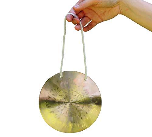 Original Feng Gong, Wind Gong aus China 15 cm, toller Klang, inkl. Holz-/ Baumwollklöppel -7016- ...
