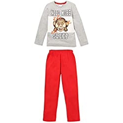 Emoji 2375, Pijama para Niños, Gris, 8 años