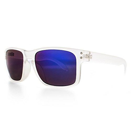 DISTRESSED Superior Sonnenbrille viele Farben (durchsichtig-blau-lila-verspiegelt)
