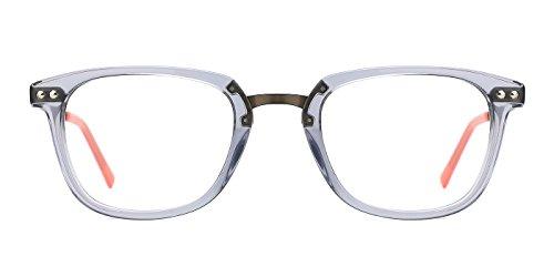 TIJN Brillen Rahmen Damen Brillengestell Nerd Brille mit nicht-verschreibungspflichtige Linse