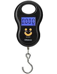 Haisen Van Balanza Digital De Equipaje Electrónico Escalas Colgantes De Viaje con Pantalla Retroiluminada/Tara/Datos Función Hold Portable 50KG-10G,50KG/10G