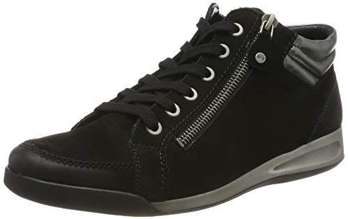 ARA Damen Rom-stf 12-44410 Hohe Sneakers, Schwarz (schwarz,gun 63), 39 EU (6 UK)