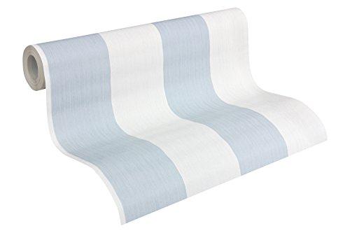 Esprit Home Vliestapete Woods Tapete Blockstreifentapete 10,05 m x 0,53 m blau weiß Made in Germany 958492 95849-2